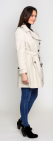 Womens Short Stone Trench Rain Coat db301